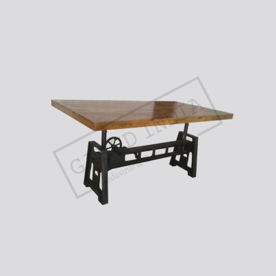 Industrial crank  dining table 2