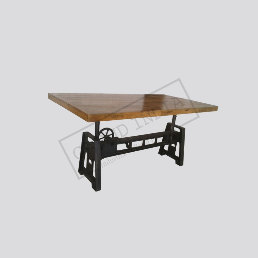 Crank dining table 2 industrial crank dining table 2 geotapseo Image collections