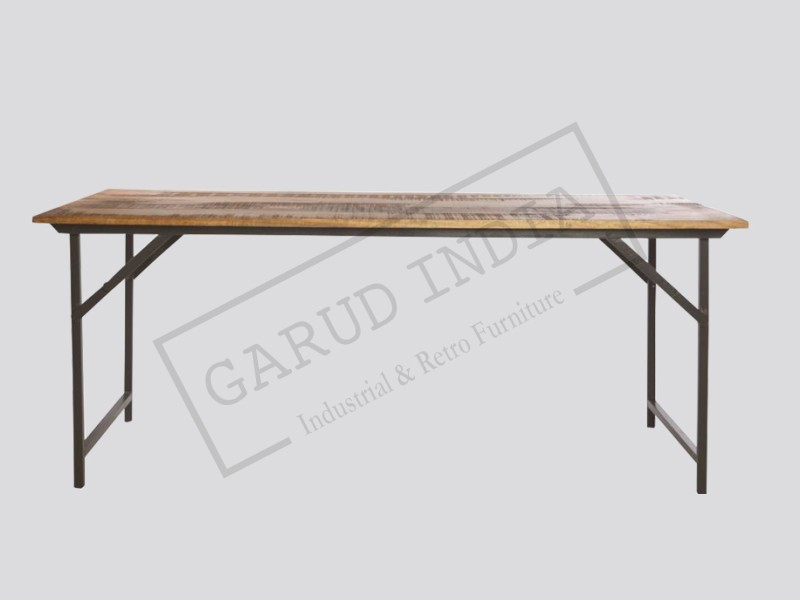 Industrial Folding dining table