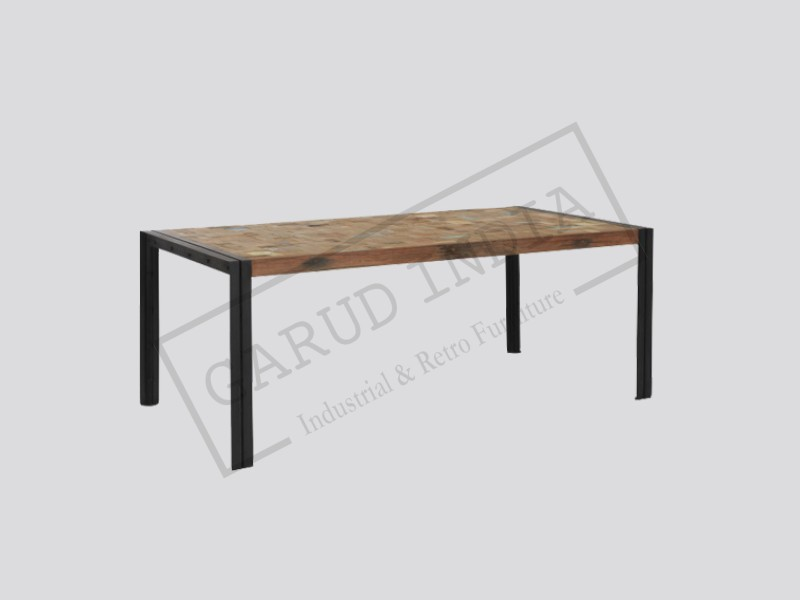 Industrial Flat Top Dining Table