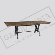 Industrial Copper Finish Cast Metal Dining Table