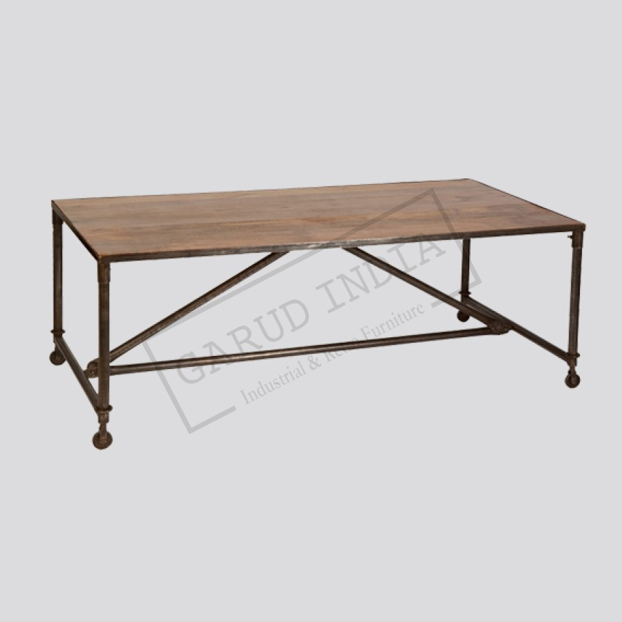 Dining Table Wheels Choice Image Dining Table Ideas : Industrial20Dining20Table 900x900 productpopup from sorahana.info size 900 x 900 jpeg 52kB