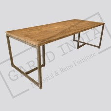 Industrial  Dining Table with T Legs