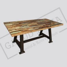 Reclaimed Salvage Wood Dining Table