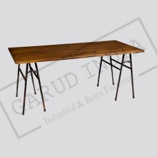 Industrial  Dining Table with V Legs