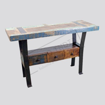 Industrial Antique  Console Table