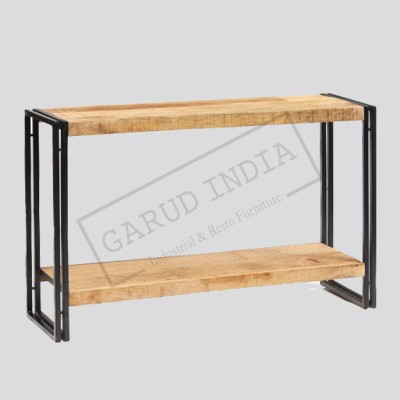 Industrial Double Shelf Console