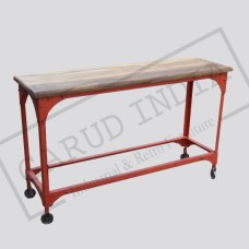 Industrial Metal Wood console