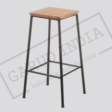Industrial Flat Top Stool