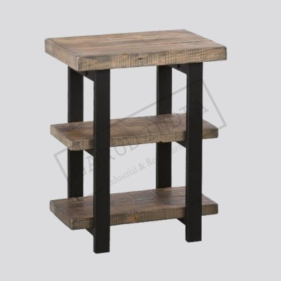 Industrial Rustic End Table