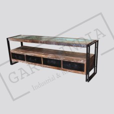 Industrial TV Unit with Metal drawers
