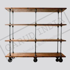 Industrial 4 layerd bookshelf
