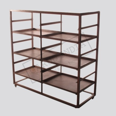thrifty collection for brown bookcase style shelf display industrial diy a espresso and recipes book shelves rack mom storage bookcases crafts