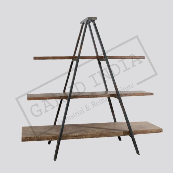 Industrial Triangular Bookshelf