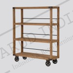 wood shelving units with wheels Bookshelf