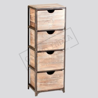 Industrial 4 drawer cabinet