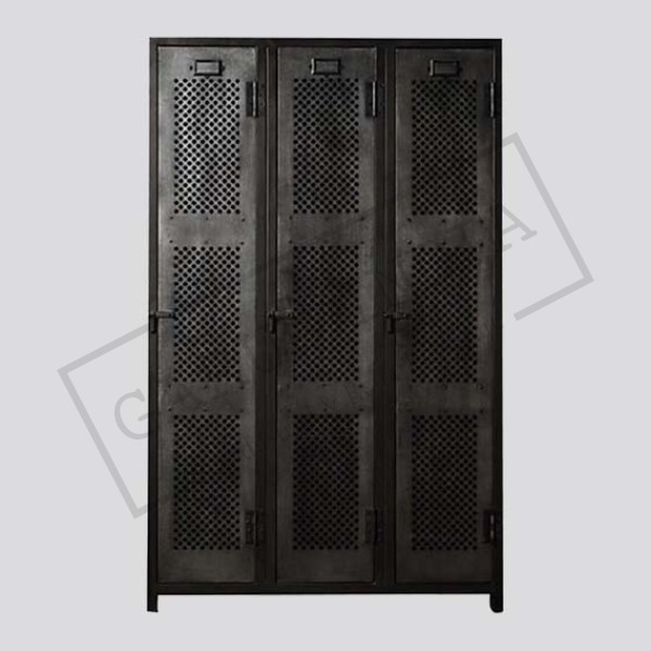 Industrial vintage locker 3 door cabinet