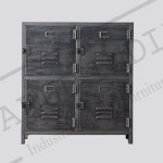 Industrial vintage locker 4 door cabinet
