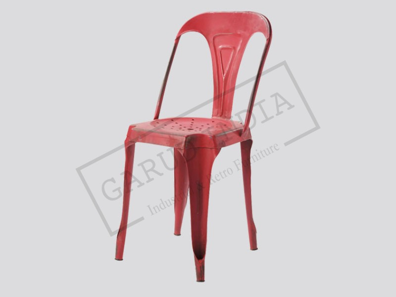 Industrial Tolix Chair Red