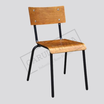 Industrial Round Bent Seat chair