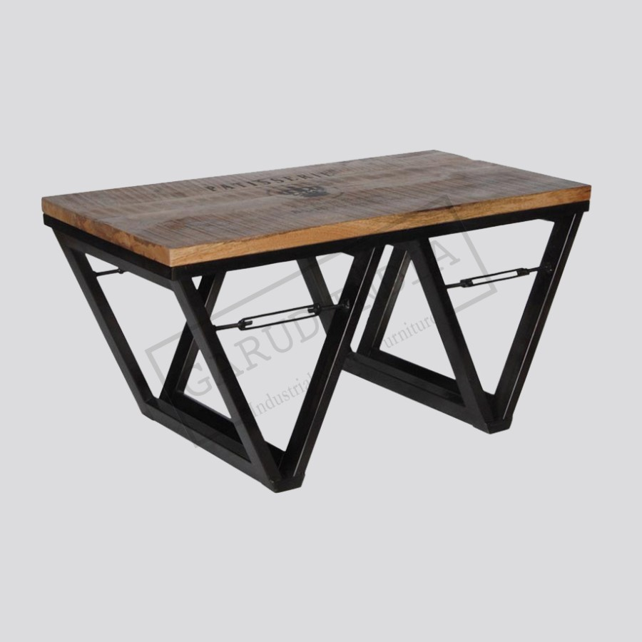 Coffee table v legs industrial coffee table v legs geotapseo Choice Image