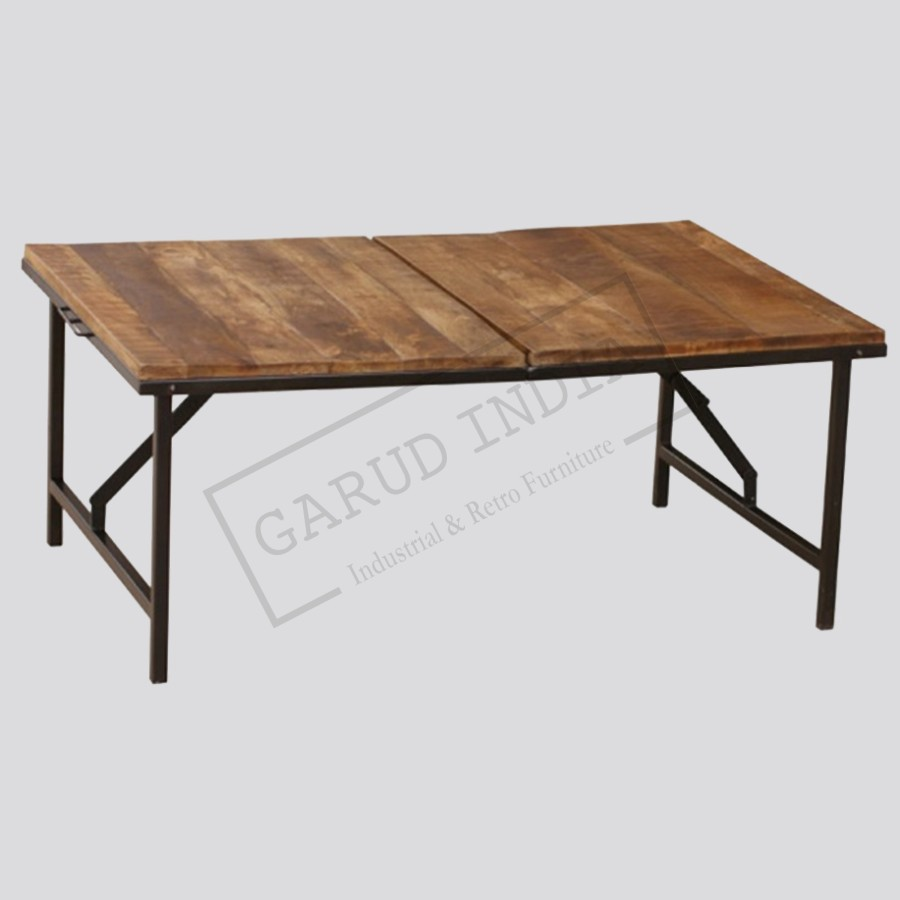 Folding coffee table iron folding coffee table geotapseo Images