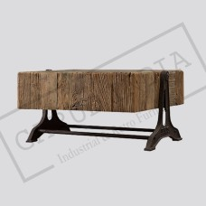 Industrial Railway Sleeper wood coffee table