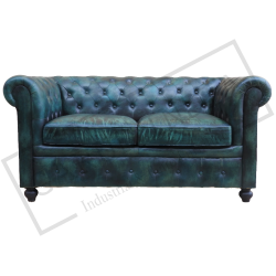 2 seater chester field sofa