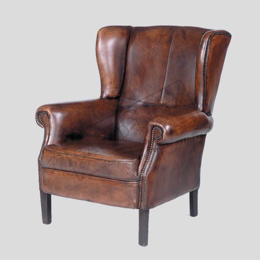Sensational Leather Wingback Chair Short Links Chair Design For Home Short Linksinfo