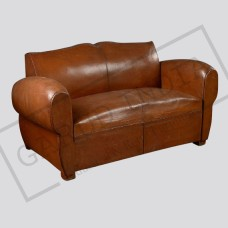 Modern leather  armchairs for 2
