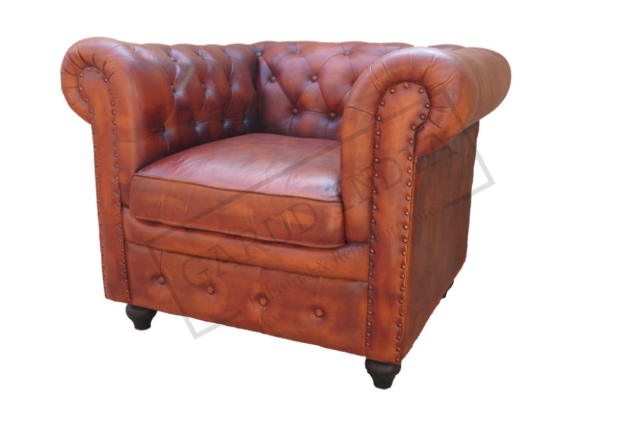 1 seater chester field sofa