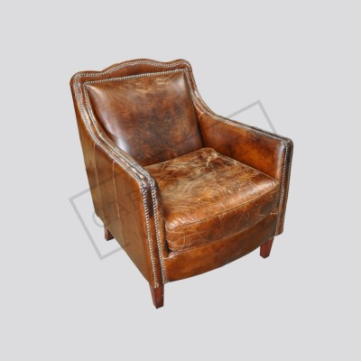 Vintage Cigar Leather chair